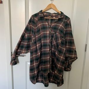 UO oversized flannel